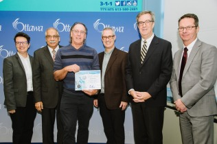 catherine mckenney, Champlain Room, Keith Egli, Mayor Jim Watson, Shad Qadri, Snow Angel Award
