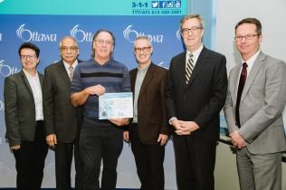 catherine mckenney, Champlain Room, Keith Egli, Mayor Jim Watson, Shad Qadri, Snow Angel Award